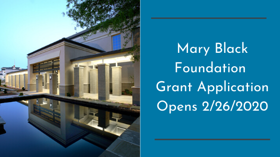 Mary Black Foundation Grant Application Opens 2/26/2020
