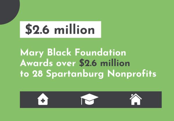 Mary Black Foundation Awards over $2.6 Million to Spartanburg Nonprofits